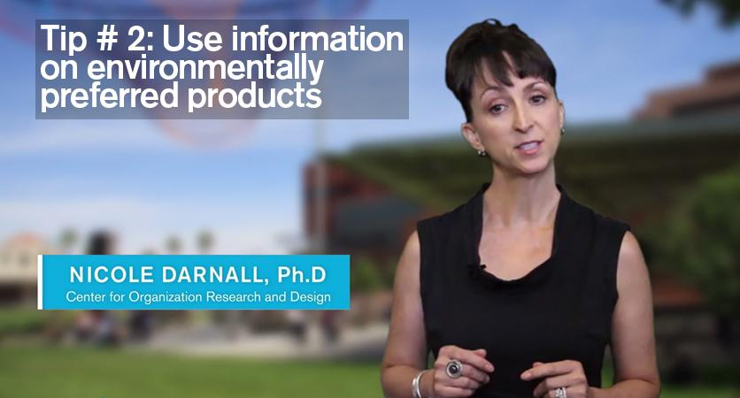 Tip 2: Use information on environmentally preferred products
