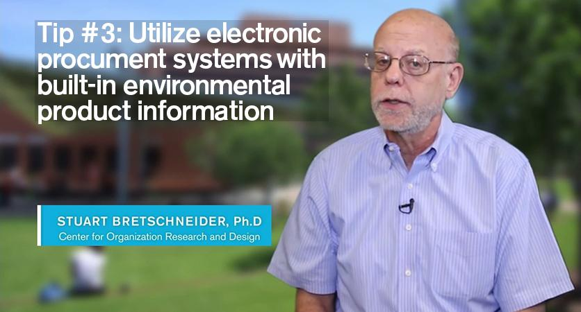 Tip 3: Utilize electronic procurement systems with built-in environmental product information