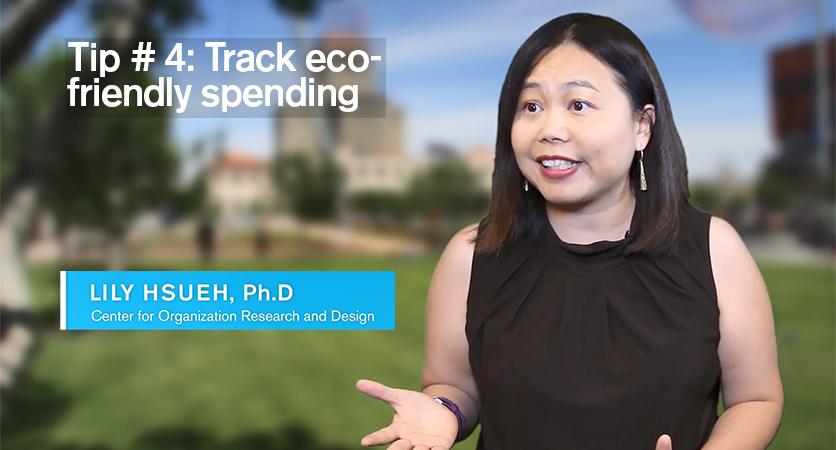 Tip #4: Track ecofriendly spending