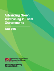 Advancing Green Purchasing in Local Governments, June 2017 report cover
